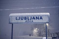 SL 0103 (Saso Lovsin) Tags: blue winter snow sign night couple ljubljana bp saolovin sasolovsin