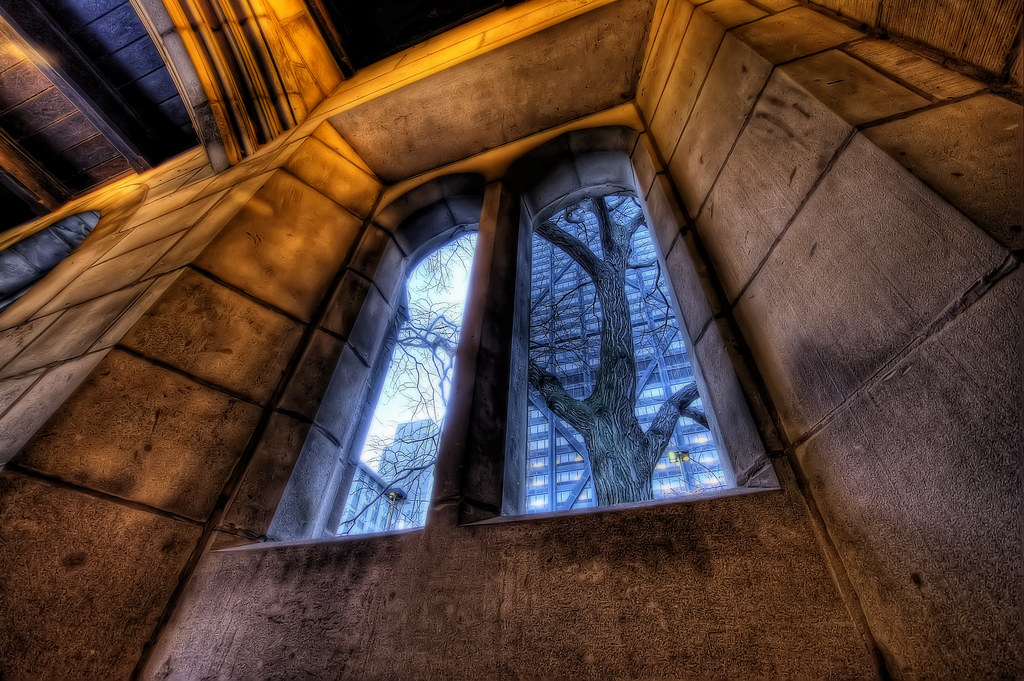 A unique view of the John Hancock Center.