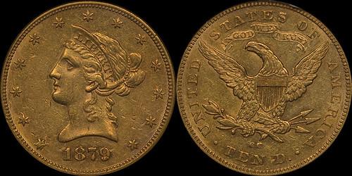 1879-CC $10.00 NGC AU58