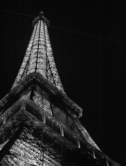 Eiffel Tower in B&W (scottnj) Tags: bw paris france monochrome blackwhite eiffeltower eiffel scottnj
