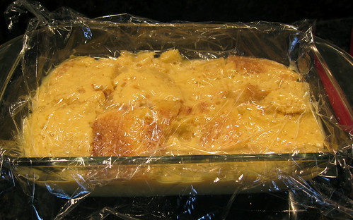 Banana Bread Pudding resting