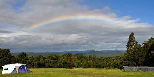 I saw several rainbows at the retreat. They made all the rain worthwhile. Photo by Bobbi Lee Hitchon
