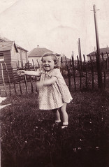 Image titled Peggy McLean Lauder in garden, 1940.