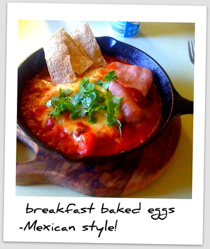 Mexican baked eggs