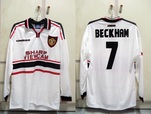 Manchester United 1997-1999 UCL Away L/S (BECKHAM - Player Issued)