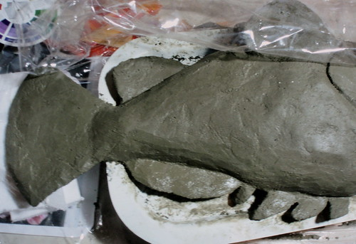 Grouper with wet concrete applied