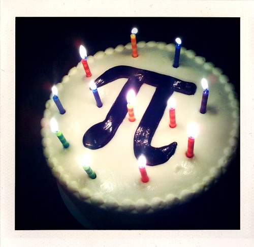 Pi Day Birthday Cake