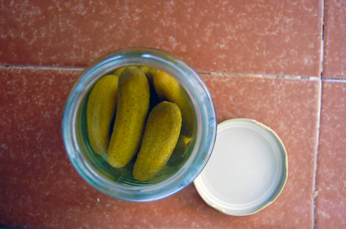 pickles, jar