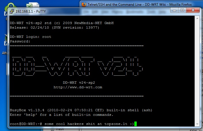 Linksys WRT160NL ir DD WRT firmware: Linux power!
