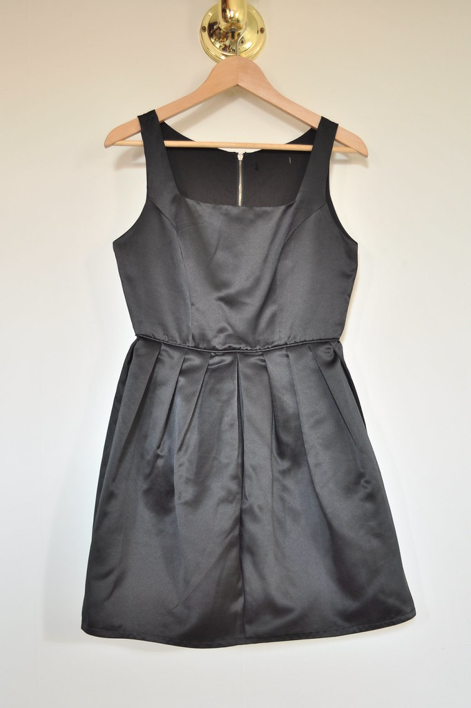 Forever 21 black satin dress