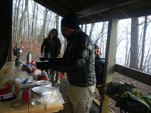 Breakfast @ Blue Mountain Shelter