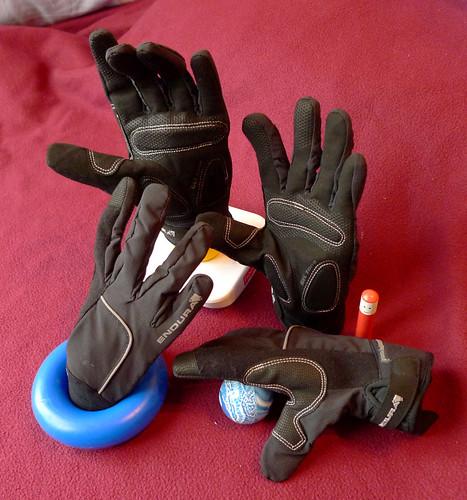 Still life with bike gloves