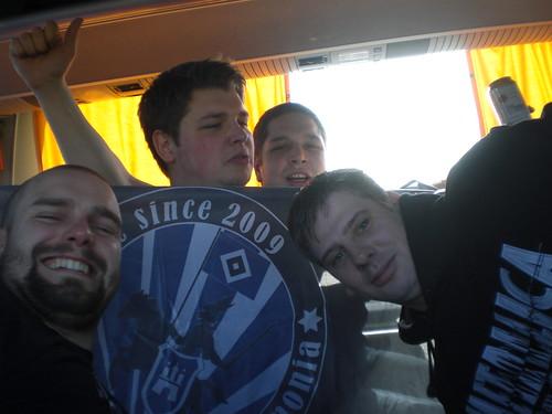 Reisegruppe blau
