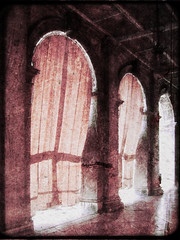 sheltering from the heat... (friendlydrag0n) Tags: old venice sun film saint st vintage square cool mark curtain shade faux cloister distressed awardtree