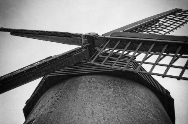 Bembridge Windmill in the  Rain