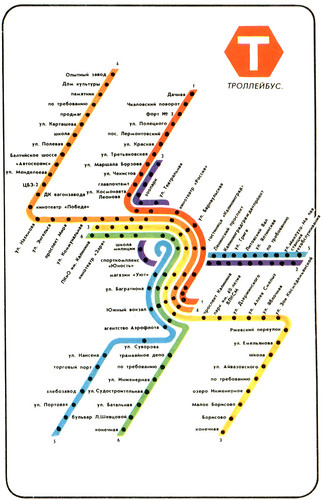 Транспортные маршруты. 1990