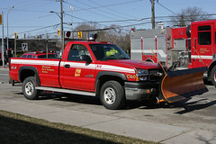 Car 160 (HANGAR ENT.) Tags: canada ontario mississauga dundas street east fire auto motive shop 2 alarm fighter truck smoke red 911 emergency car district chief 106 160 108 109 107 dodge chevrolet plow pick up t photography photo atphotography