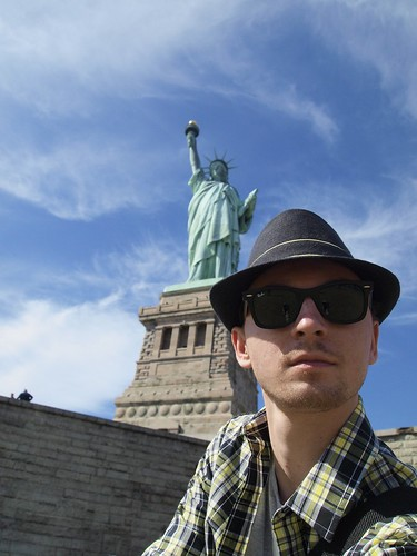 me and Statue of Liberty