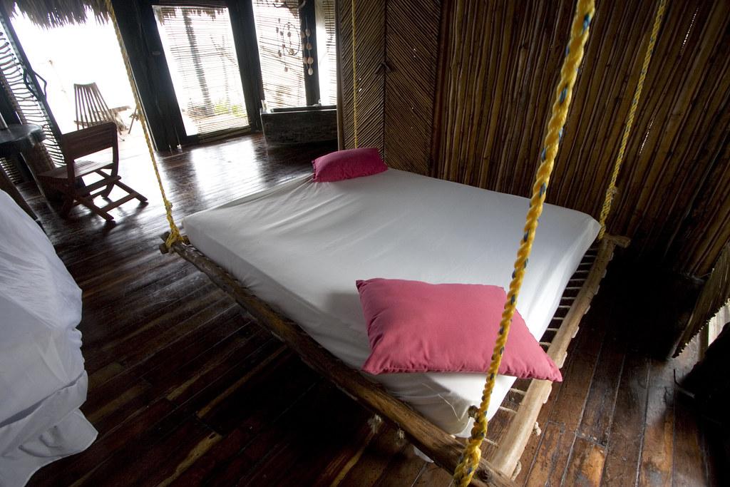indoor hanging bed at Azulik (16958)