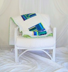 Watercolors 2 (PioneerValleyGirl) Tags: blue white house color detail green geometric home water colors modern watercolor square photography design cool chair colorful aqua quilt bright furniture squares handmade turquoise contemporary decorative interior sewing crafts massachusetts creative stripe craft indoor sew monochromatic lap textile homemade fabric cotton decorating blanket quilting quilted strings inside block crafty patch patchwork simple wicker decor scrap throw crafting bold pioneervalley lapquilt bibliophile1 pioneervalleygirl