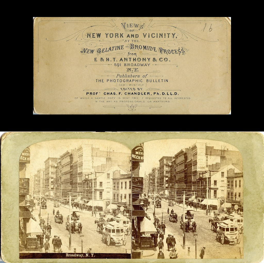 Anthony Stereoview, New Gelatine Bromide Process Advertisement