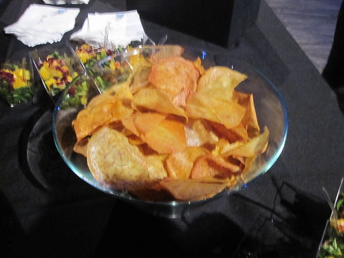 Yellow beet chips at Crea gala