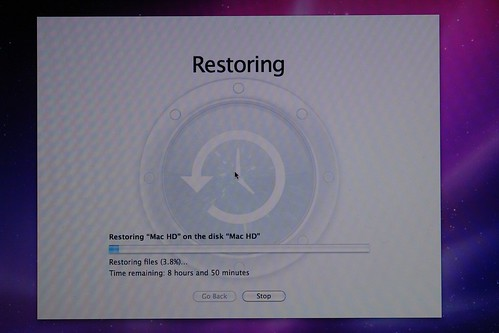 System Restore screenshot