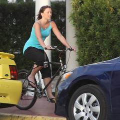(lee_yoshida) Tags: bicycle canon turquoise actionshot