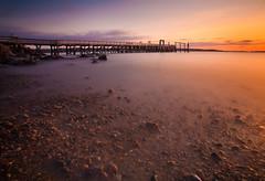 Good Morning, Salem (chris lazzery) Tags: longexposure beach pier massachusetts 5d salem canonef1740mmf4l salemwillowspark bw30nd
