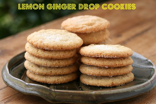 Lemon Ginger Drop Cookies - Martha Stewart