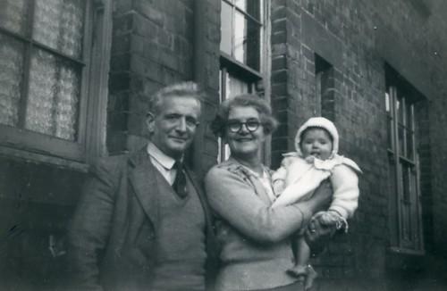 Proud Grand Parents, 55 Dinart Street, Riddrie,  1956