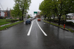 New bike lane on NE 12th at Sandy-1