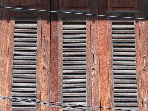 House window shutters, Lampang, Thailand