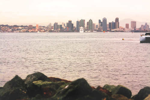 san diego skyline from shelter island
