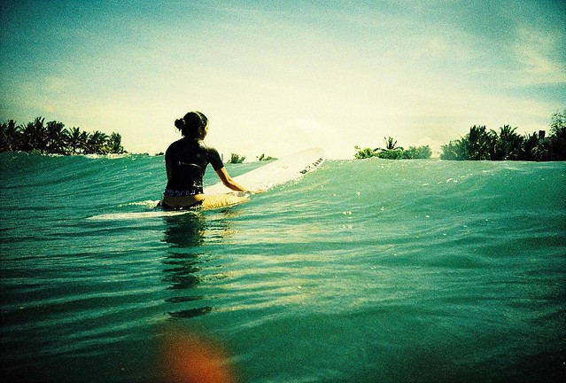 Waiting for a wave
