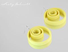 Alexa (Katy Schmitt) Tags: yellow silver necklace jewelry rubber jewellery polymerclay fimo gelb bead metall schmuck perle silber kette polymer polyclay kautschuck
