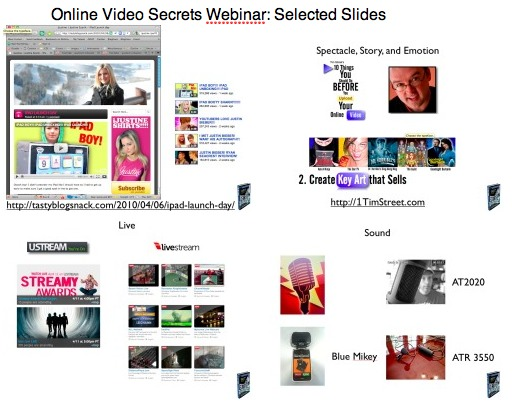 Online Video Secrets Webinar: Selected Slides