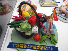 Peter Rabbit (synthetic adventures) Tags: show rabbit vegetables cake fruit easter decoration sydney australia competition peter icing 2009 2010 sydneyroyaleastershow joanbelz