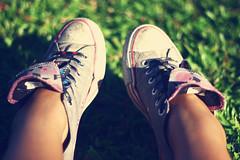 Dirty Shoes (lisanosaurus) Tags: grass shoes converse chucks