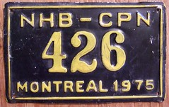 CANADA, 1975 MONTREAL NATIONAL HARBOUR BOARD ---SHIP'S PLATE (woody1778a) Tags: canada ship quebec montreal plate licenseplate 1975 npcc numberplate registrationplate alpca boatlicense alpca1778 shiplicense