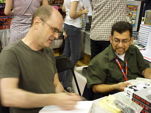 Charles Burns & Jaime Hernandez, MoCCA Art Festival, April 10, 2010