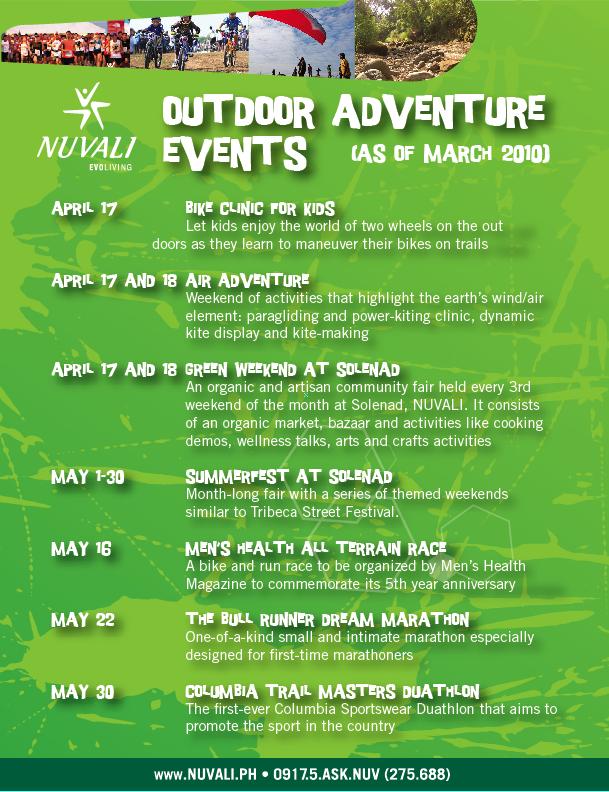 NUVALI calendar