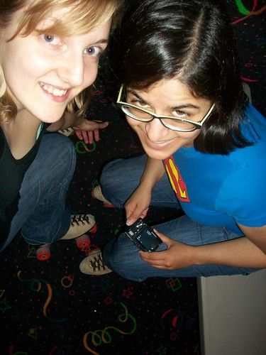 Me and Vani, now with roller skates!