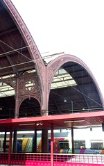 Strasbourg - main train station (Iro {Ivy style33}) Tags: trip red france architecture modern train colours heart traditional multicoloured strasbourg trainstation heartshaped bergandy shortweekend urbancharm thenmeetsnow