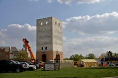Muensterberg Plaza  Berne, Indiana (beccafromportland) Tags: tower swiss progress clocktower monolith berneindiana adamscountyindiana 27mainst muensterbergplaze muensterbergplazaclocktower muensterbergplazaberneindiana