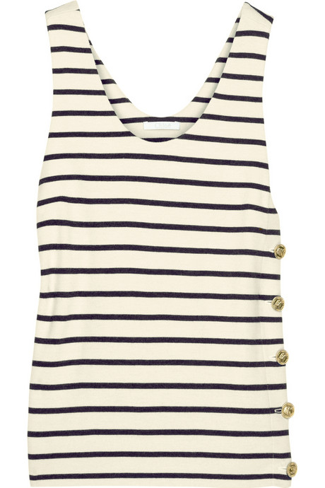 chloe striped wool-jersey tank net a porter