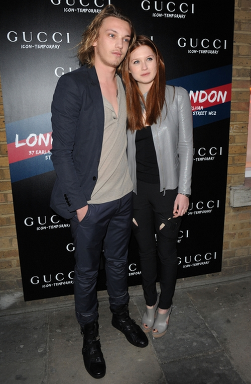 Jamie Campbell and Bonnie Wright