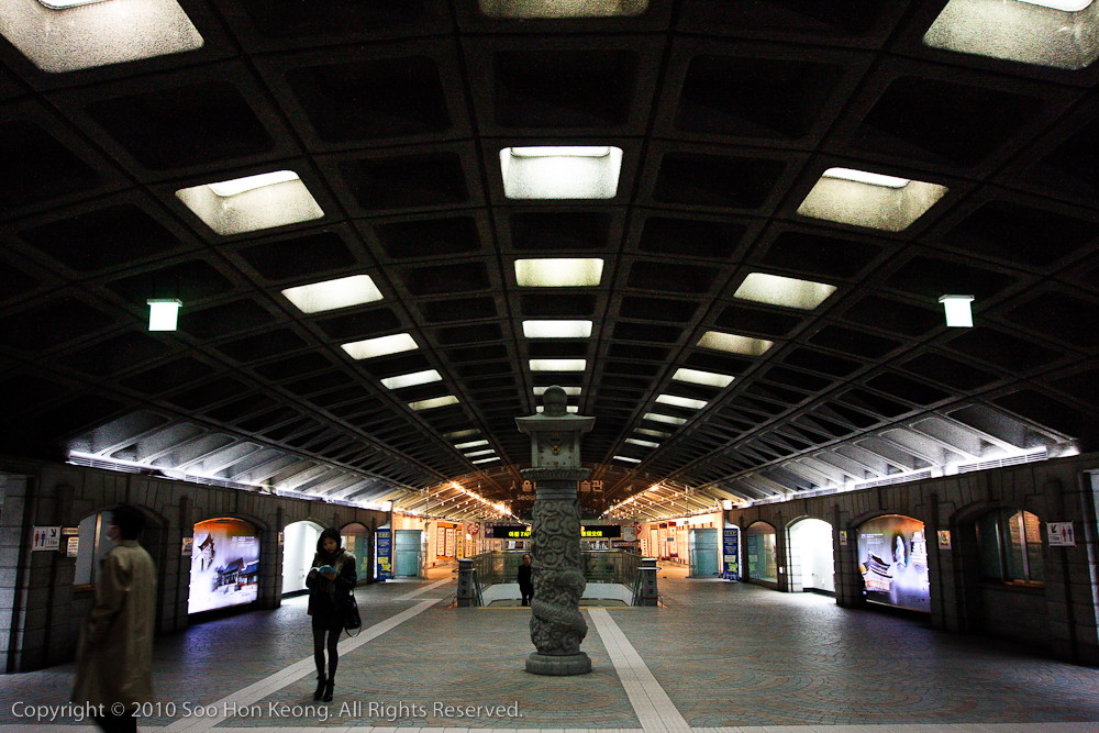 Gyeongbokgung MRT (SubWay) Station @ Seoul, Korea
