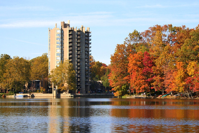 Looking North Across Lake Anne, Heron House in the Distance