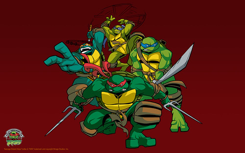 "TMNT 25 ""4kids"" Wallpaper ..style guide art by Randolph  (( 2009 ))"